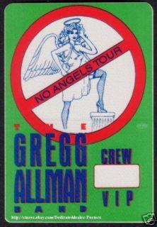 Gregg Allman Backstage Pass Tour Satin Cloth Angels VIP