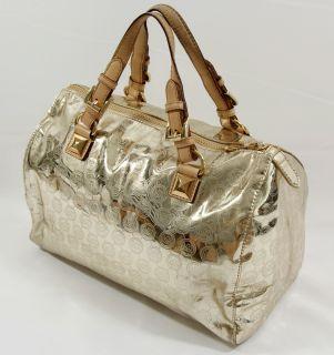 Michael Kors Grayson Monogram Large Satchel Tote Handbag Mirror