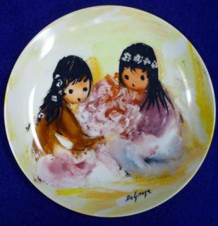 Vintage de Grazia Spring Blossoms Plate w Cod No Box
