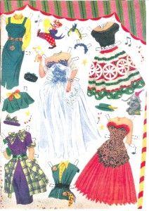 Vintage 1952 Mary Hartline Paper Doll Lazer RPRO ORG Sz