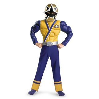 Power Rangers Gold Ranger Samurai Muscle Chest Costume Child New