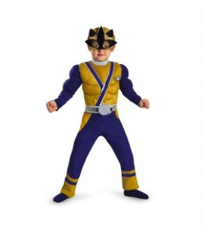 Power Rangers Gold Ranger Samurai Muscle Chest Child Toddler Costume
