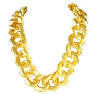 Thick Rope Gold Chain Old School Rapper Run DMC Bling
