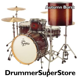 Gretsch Renown Maple Drum Set Rock 24 Kick Drum Autumn Burst 3pc Shell