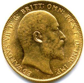 1910 King Edward VII Full Gold Sovereign Lustre