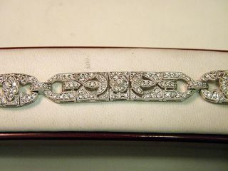 Ladies 18K White Gold Diamond Pave Bracelet 2 0 Carat