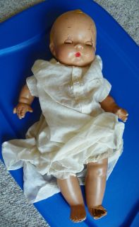 VTG 1937 HARRIET FLANDERS All Compo Doll Little Cherub Sleep Eye 17