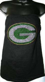 Green Bay Packers Bling Womens Strapless Tube Top s 3X