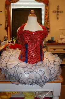 Patriotic Wear Red White & Blue for National Pageant Dress Wear Size