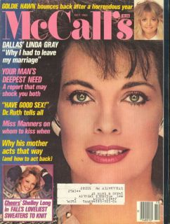 1983 McCalls Magazine Linda Gray Dallas Goldie Hawn