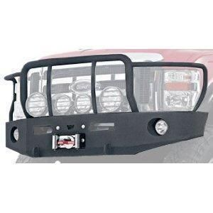 Warn 74777 Heavy Duty Front Bumper with Grille and Brush Guards