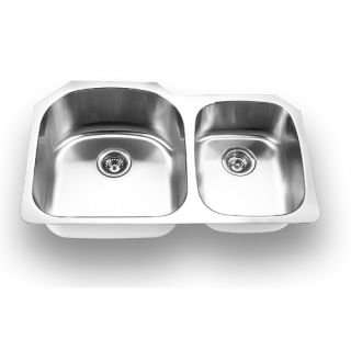 Yosemite Home Decor Stainless Steel Undermount Double Bowl