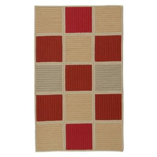 Colonial Mills Simply Home Hopscotch Red Sand Rug