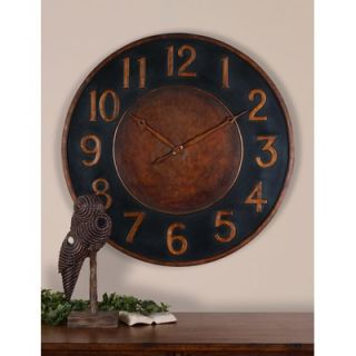 Trend Lab Polka Dots Wall Clock in Sage Green and Brown