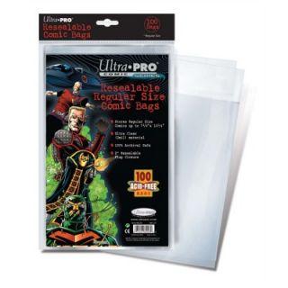 Ultra Pro 7.13 x 10.5 Resealable Regular Comic Bags   COMBAGRRU