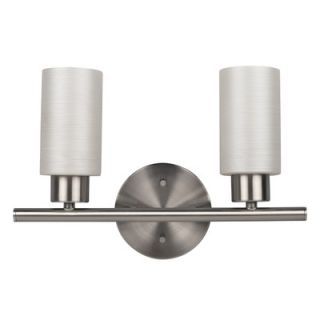 Canarm Margo 13 Two Light Bath Vanity in Brushed Pewter