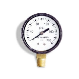Wayne Water Systems 0 100 PSI, 0.13 Back Pressure Gauge   66017