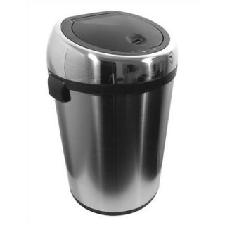 Nine Stars 17 Gallon Stainless Steel Infrared Trash Can   DZT 65 1