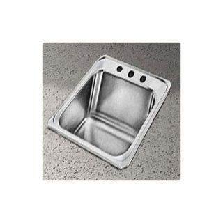 Elkay Celebrity 17 x 21.25 Self Rimming Stainless Steel Sink Set