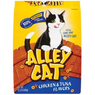 Alley Cat Chicken and Tuna Flavors Cat Food 15 lb Bag   29274 50222