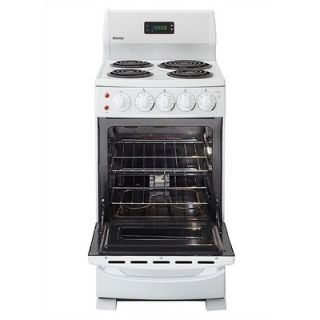 Danby 20 4 Burner Electric Range in White with Oven Window