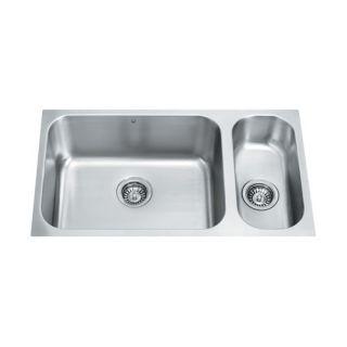 Vigo 23 Stainless Steel Undermount Kitchen Sink Set   VG2318K1