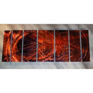 Abstract by Ash Carl Metal Wall Art in Red   23.5 x 60   SWS00052
