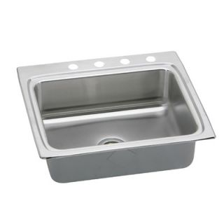 Elkay Gourmet 25 x 22 x 6 Stainless Steel Drop In Single Bowl