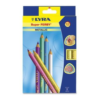 Dixon® Ticonderoga Super Ferby Metallic Colored Pencils , Triangular