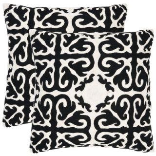 Safavieh Caspar Decorative Pillows in Black (Set of 2)   PIL100B