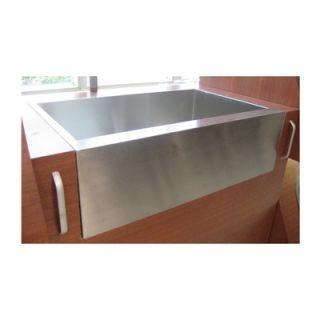 Water Creation 33 x 21 Zero Radius Stainless Steel Farmhouse Kitchen