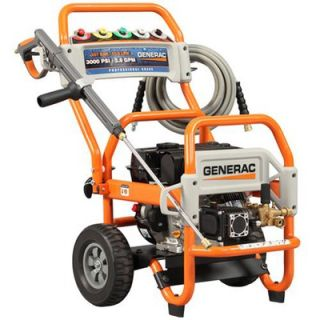 3000 psi, 2.8 gpm with five spray nozzles and 35 foot heavy duty hose
