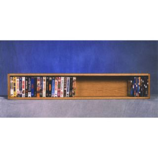Wood Shed 100 Series 40 VHS Wall Mounted Multimedia Storage Rack