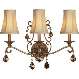 Forte Lighting Three Light Wall Sconce in Rustic Sienna   7484 03 41