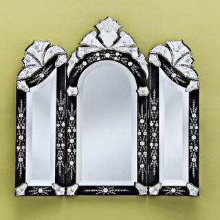 Venetian Gems Monet Wall Mirror in Black