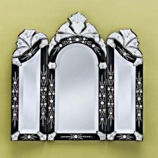 Venetian Gems Monet Wall Mirror in Black