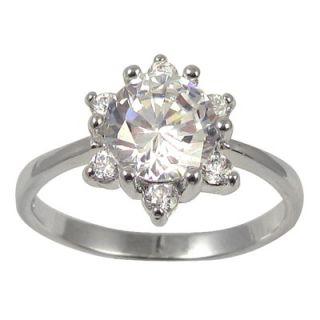 Trendbox Jewelry Cubic Zirconia Flower Ring   RIZ41 / RIZ41/sz