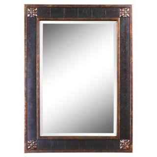 Uttermost Bergamo Rectangular Beveled Vanity Mirror in Chestnut