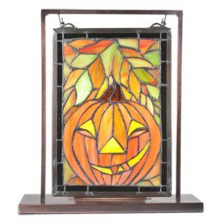 Meyda Tiffany Jack OLantern Lighted Mini Tabletop Window