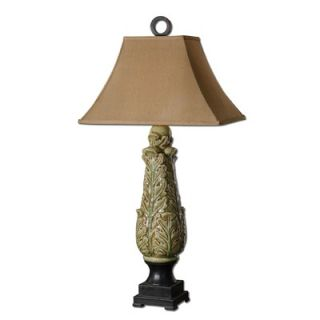 Uttermost Martana One Light Table Lamp in Crackled Mossy Green