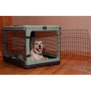 Pet Gear Deluxe Steel Dog Crate in Sage