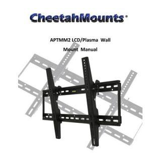 Cheetah Mounts Flat Tilt Wall Mount (32   65 Screens)
