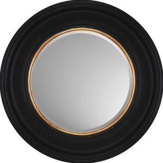 Paragon Round Black with Gold Contemporary Wall Mirror