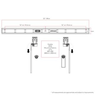 Low Profile Wall Mount TV Bracket for 32   63 Screens
