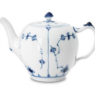 Royal Copenhagen Blue Fluted Plain 64 Oz Teapot