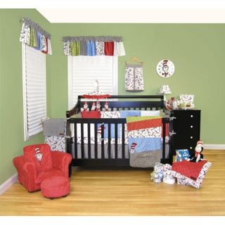 Trend Lab Dr Seuss The Cat in the Hat Crib Bedding Collection   300