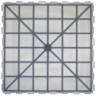 Avaire Select 18 x 18 Porcelain Tile with Interlocking Tray in Stone