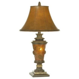 Lighting Pine Cone Glow Table Lamp in Etruscan Gold   87 262 G7
