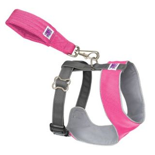 "Mutt Gearâ""¢ Dog Comfort Harness in Pink and Gray"
