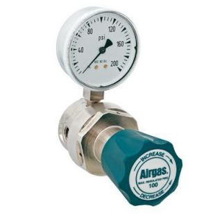 Airgas   100 PSI Delivery General Purpose Single Stage Brass Regulator
